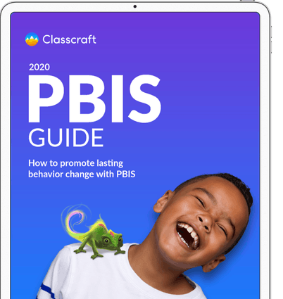 Tablet-with-the-cover-of-the-PBIS-Guide