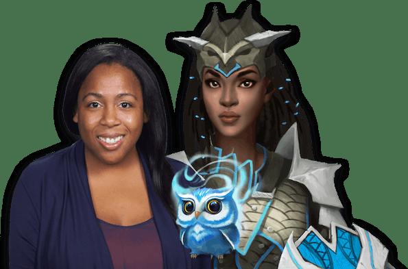 Kinshasa Msola-Marshall with her Classcraft avatar