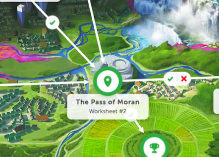A section of the world map within the Classcraft universe